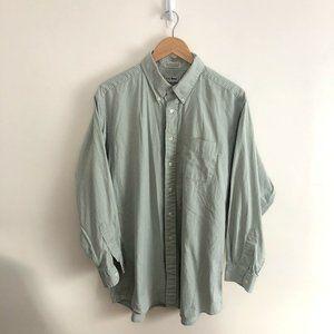 LL Bean Button Down Shirt 17 34 Plaid